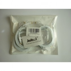 Jadaol-Cat 6 Ethernet Cable 3ft White (6 pack) – (90 Centimeters)