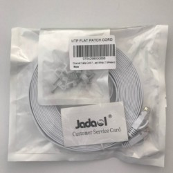 Jadaol-Cat 6 Ethernet Cable 25ft White – (7.6 Meters)